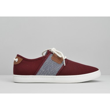 ARMISTICE DRONE ONE M - B.CANVAS/LINARS - BURGUNDY/NAVY
