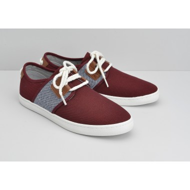 DRONE ONE M - B.CANVAS/LINARS - BURGUNDY/NAVY