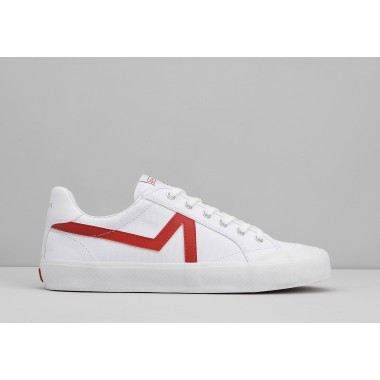 ARMISTICE GROUND TENNIS M - CANVAS/GREAT - WHITE/RED