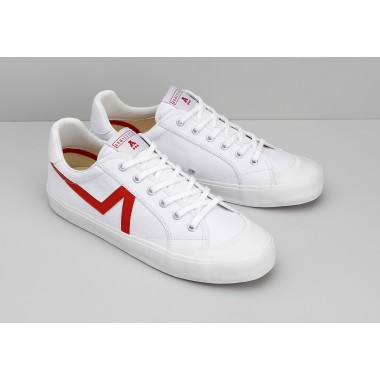 GROUND TENNIS M - CANVAS/GREAT - WHITE/RED