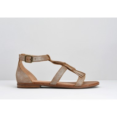 ARMISTICE CODE INDIAN W - SUEDE METALLIC - COGNAC