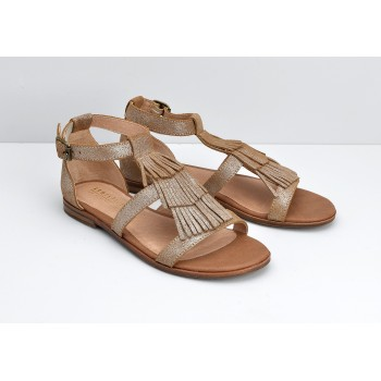 ARMISTICE - CODE INDIAN W - SUEDE METALLIC - COGNAC