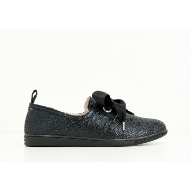 STONE ONE W - PRINT SNAKE - BLACK SOLE BLACK