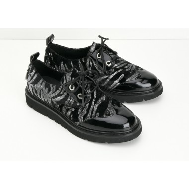 FOX DERBY W - PATENT/INFERNO - BLACK/SILVER