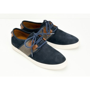 DRONE ONE M - NUBUCK GR./BOY - NAVY/BLACK