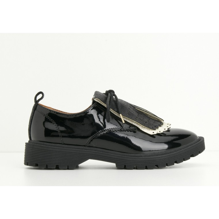 ARMISTICE ROCK DERBY W - PATENT - BLACK SOLE BLACK
