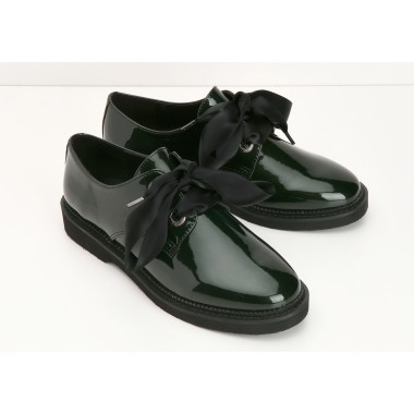STOCK DERBY W - GLOSSY - EMERAUDE SOLE BLACK