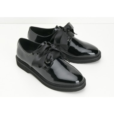 STOCK DERBY W - GLOSSY - BLACK SOLE BLACK