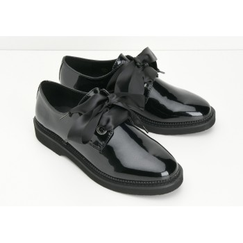 ARMISTICE - STOCK DERBY W - GLOSSY - BLACK SOLE BLACK