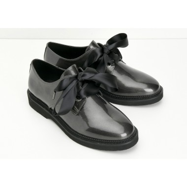 STOCK DERBY W - GLOSSY - ARDOISE SOLE BLACK