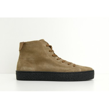 DOGS MID M - SUEDE - TAUPE SOLE BLACK