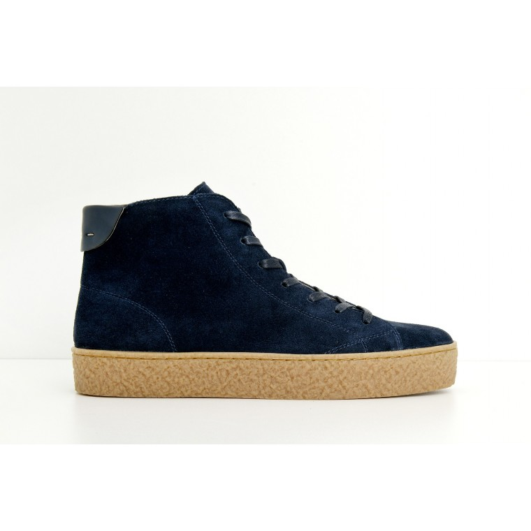 ARMISTICE DOGS MID M - SUEDE - NAVY SOLE NATURAL