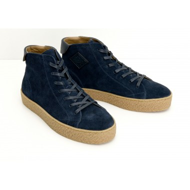 DOGS MID M - SUEDE - NAVY SOLE NATURAL