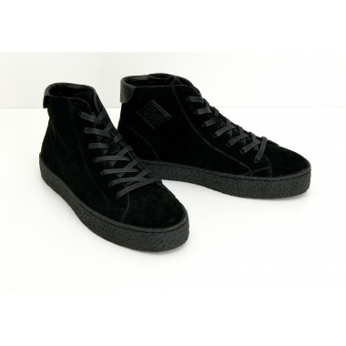 DOGS MID M - SUEDE - BLACK SOLE BLACK