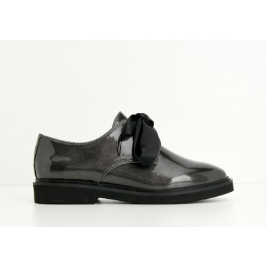 ARMISTICE STOCK DERBY W - GLOSSY - ARDOISE SOLE BLACK