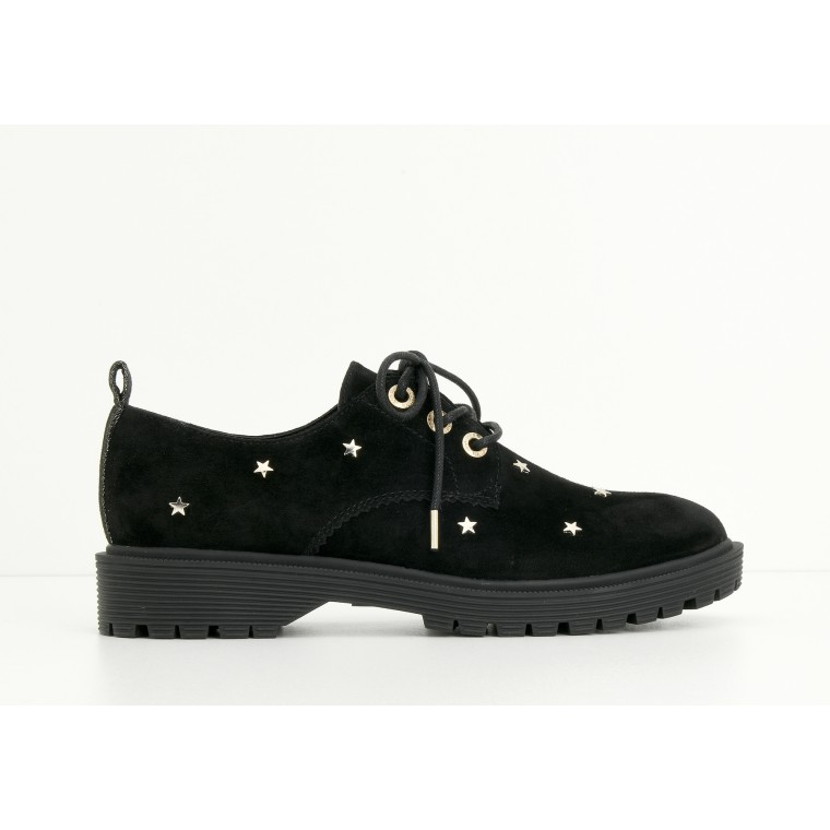 ARMISTICE ROCK DERBY W - GOATSUEDE/STARS - BLACK SOLE MAT BLACK