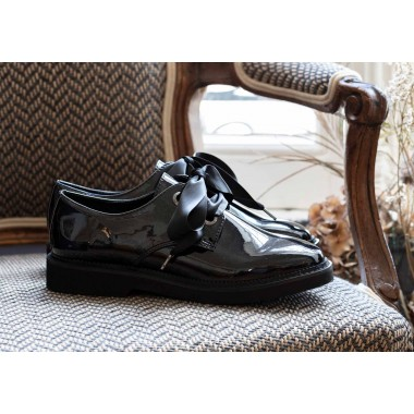 ARMISTICE STOCK DERBY W - GLOSSY - EMERAUDE SOLE BLACK