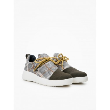 Volt Pleats W - Split/Klaris - Kaki/D.Grey
