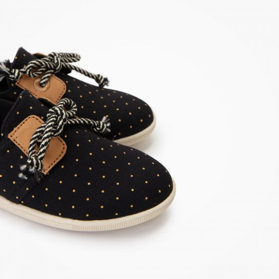 STONE ONE K - ORG.CANVAS DOTS - NOIR