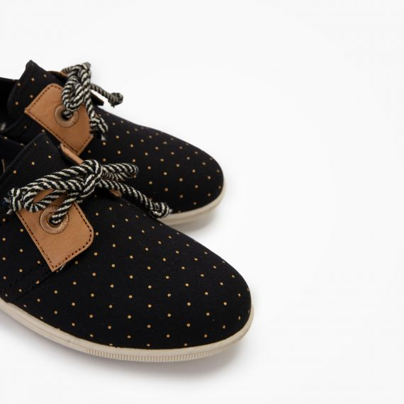 STONE ONE W - ORG.CANVAS DOTS - NOIR