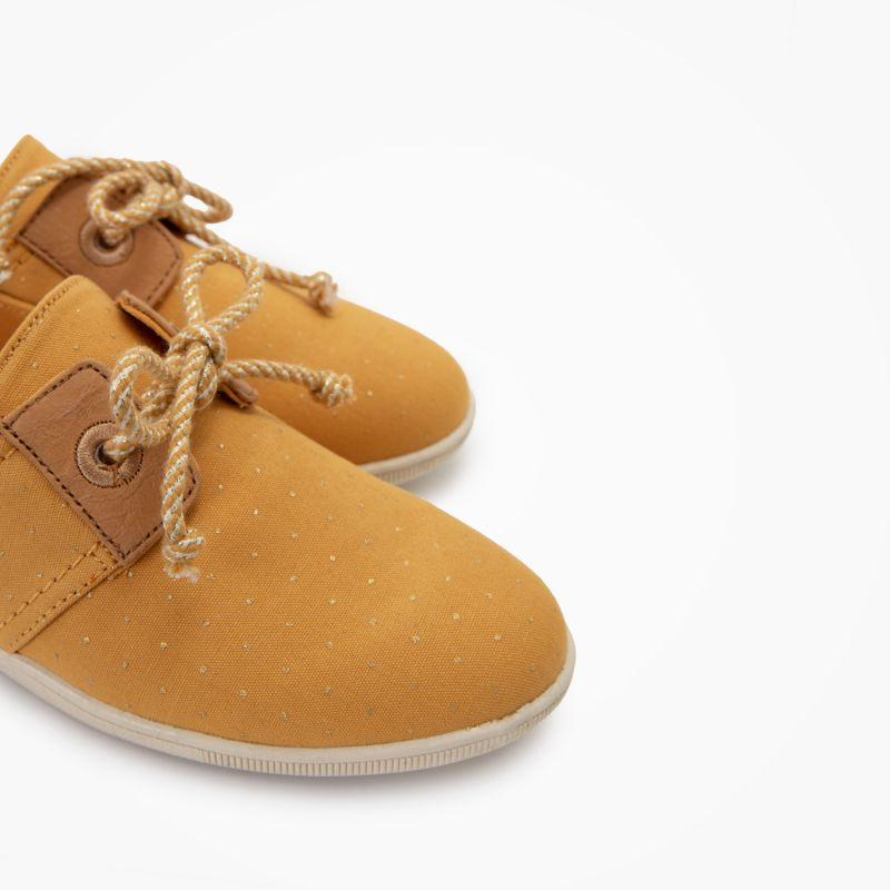 ARMISTICE - STONE ONE W - ORG.CANVAS DOTS - OCRE