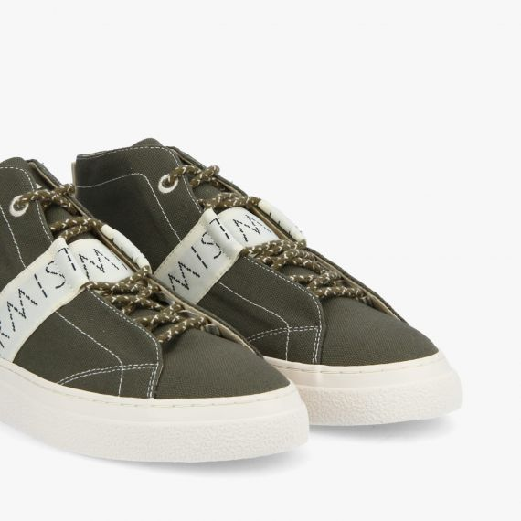ONYX MID M - CANVAS RECYCLED - OLIVE
