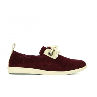 STONE GLOVE GOAT SUEDE - BOURGOGNE