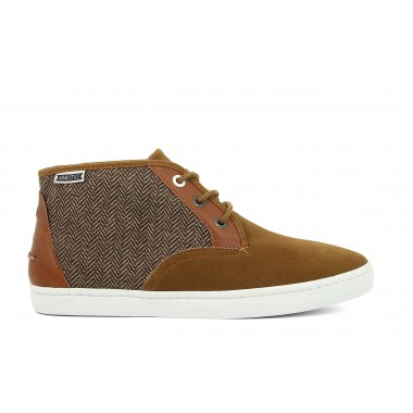 DRONE MID - SUEDE / TWEED - CAMEL / TAUPE