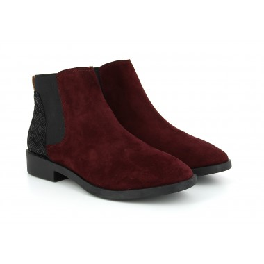 WOOKIE CHELSEA - GOAT SUEDE / STEP - BOURGOGNE / BLACK