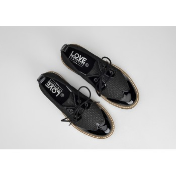 FOX DERBY W - PALACE/PATENT - BLACK/BLACK