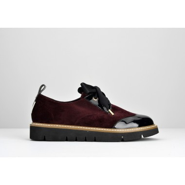 Fox Derby Cocoon/Patent - Bordeaux/Black