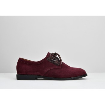 HERO ONE W - GOAT SUEDE - BORDEAUX SOLE BLACK