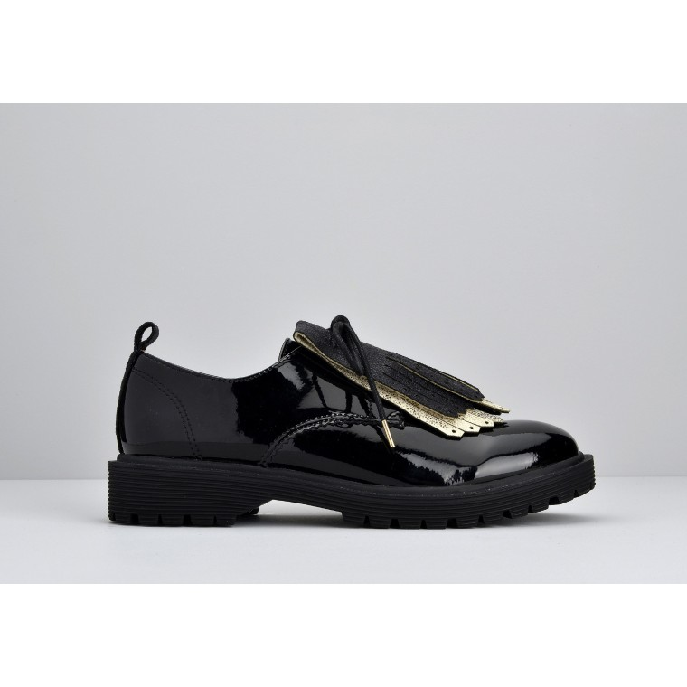 ROCK DERBY W - PATENT - BLACK SOLE BLACK