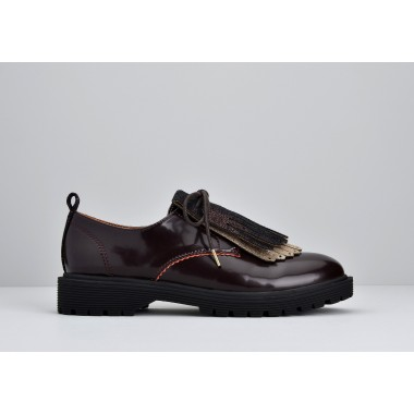 ARMISTICE ROCK DERBY W - PATENT - BORDEAUX SOLE BLACK