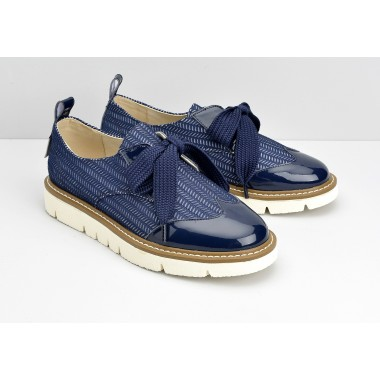 FOX DERBY W - PATENT/SHY - NAVY/NAVY